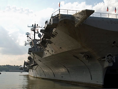 AGM is providing tie down shelving for the new USS Gerald R. Ford aircraft carrier.