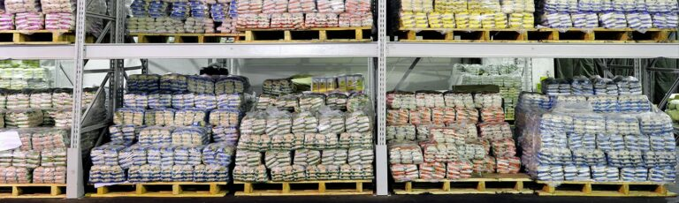 Desiccants in stretch-wrapped pallets solved a condensation problem in overseas shipments of dog food bags