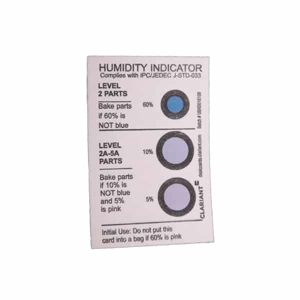Reversible Humidity Indicator Card - JEDEC STD-0033 Qualified