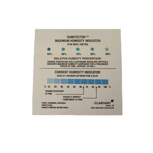 50-90% Maximum & Reversible Humidity Indicator Card