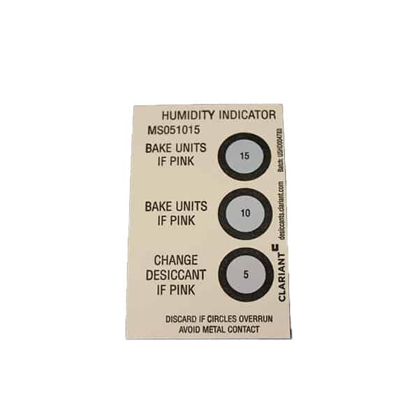 5-10-15% Reversible Humidity Indicator Card