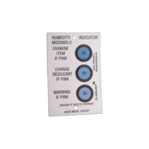 30-40-50% Reversible Humidity Indicator Card - MIL-I-8835 Qualified