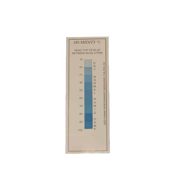 10-100% Reversible Humidity Indicator Card - Adhesive Backed