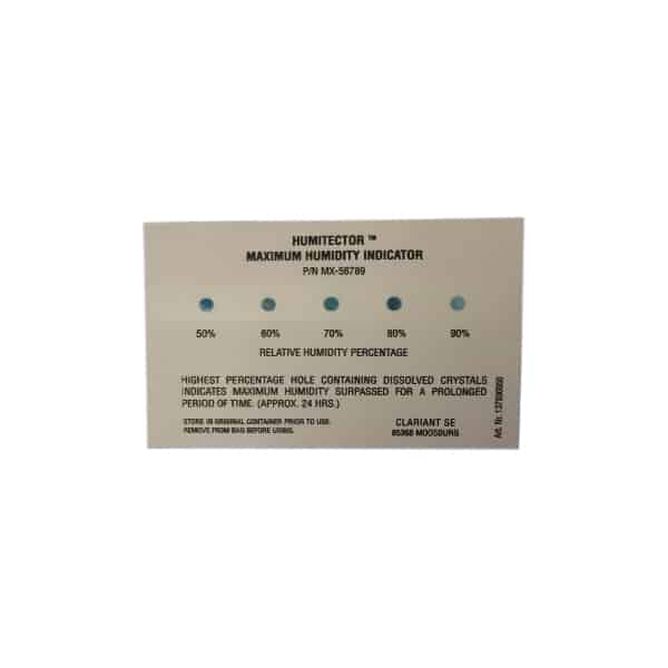 50-90% Maximum Humidity Indicator Card