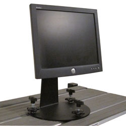 Tie Down Shelving - Monitor Mount - View of Mounted Monitor