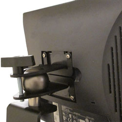 Tie Down Shelving - Monitor Mount - Back View of a Mounted Monitor